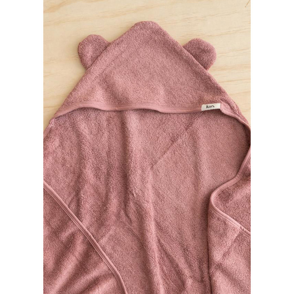 Kiin Baby Hooded Towel Heather