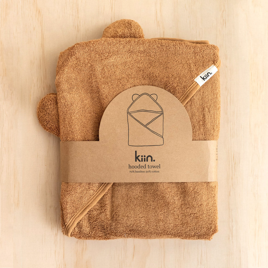 Kiin Baby Hooded Towels Caramel