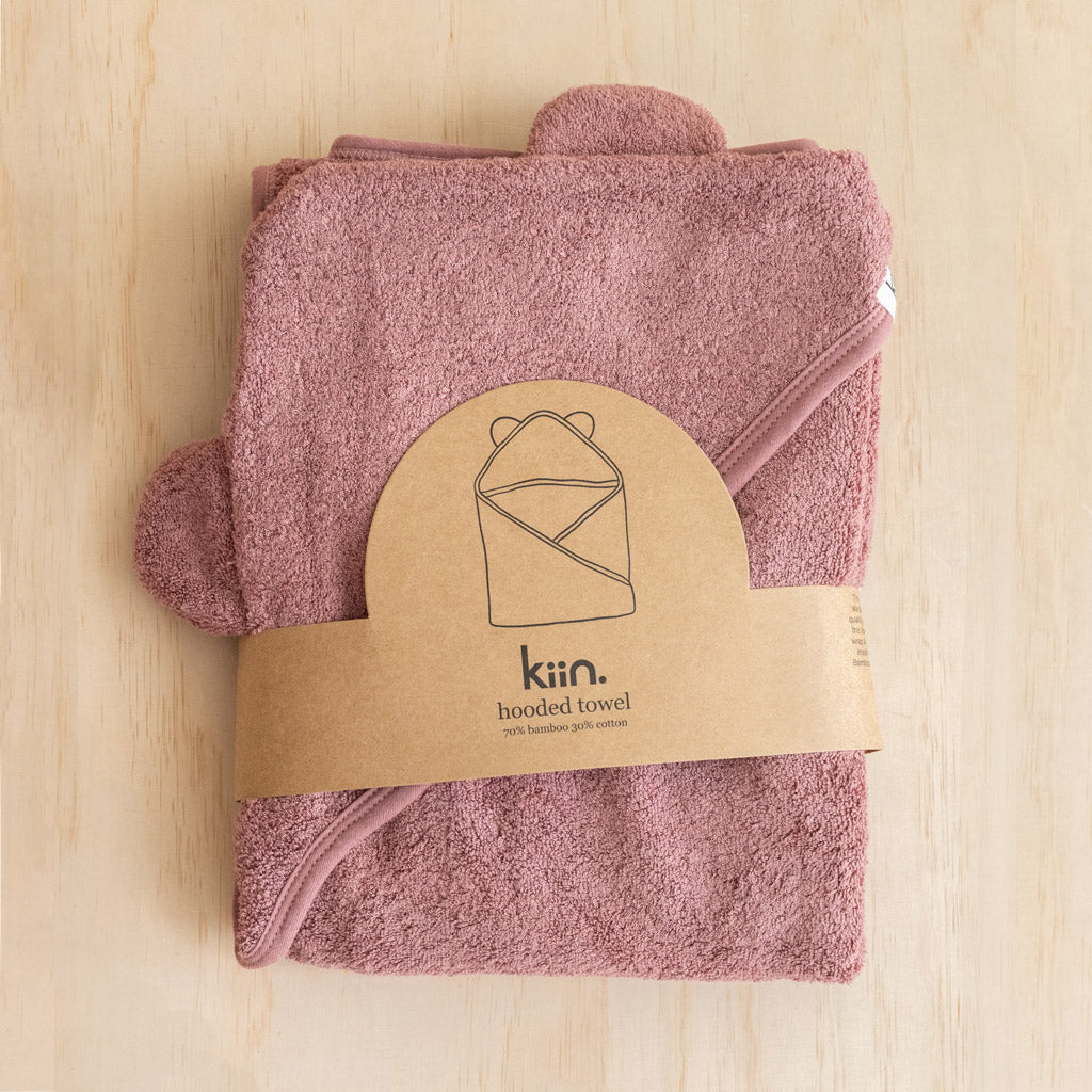 Kiin Baby Hooded Towels Heather