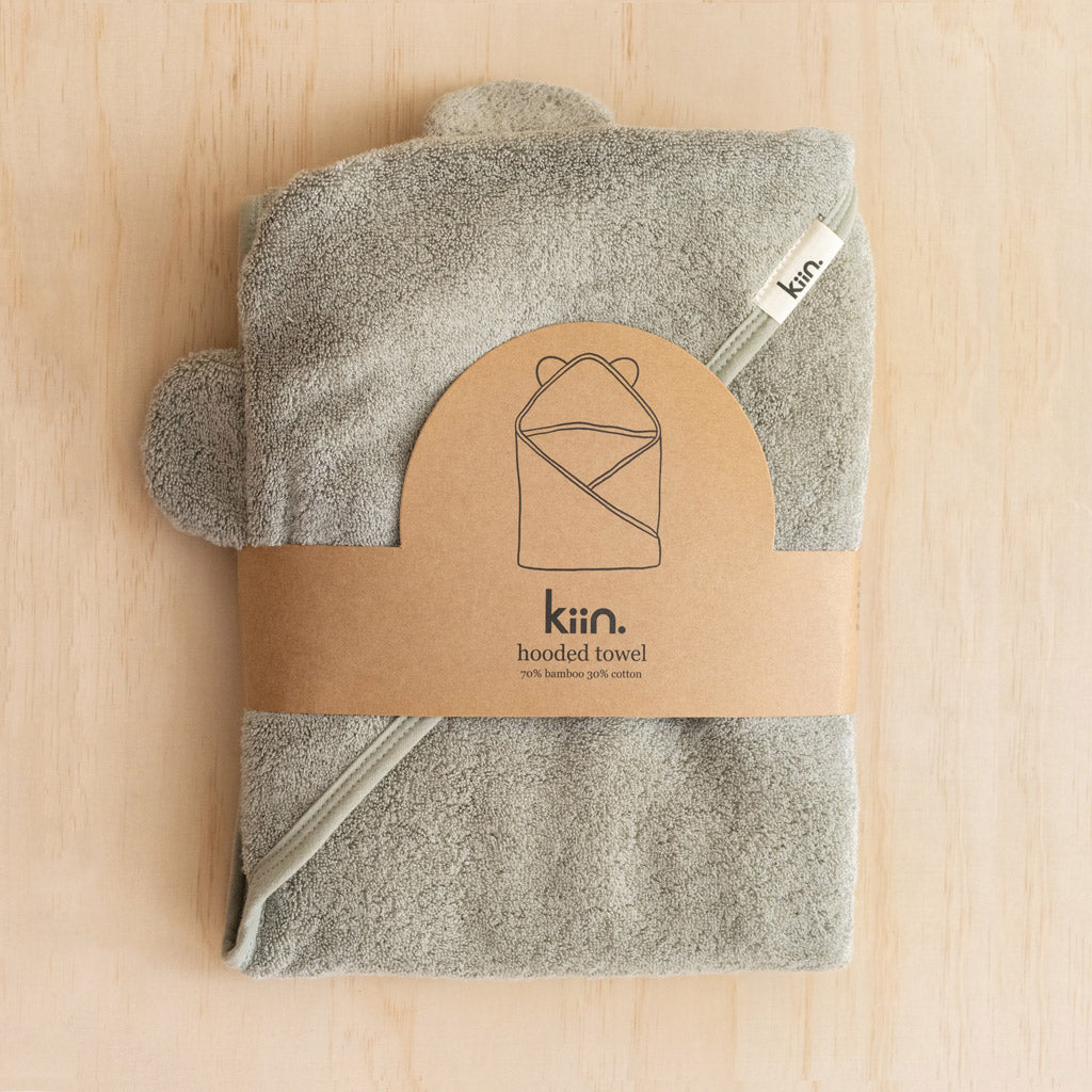 Kiin Baby Hooded Towels Sage