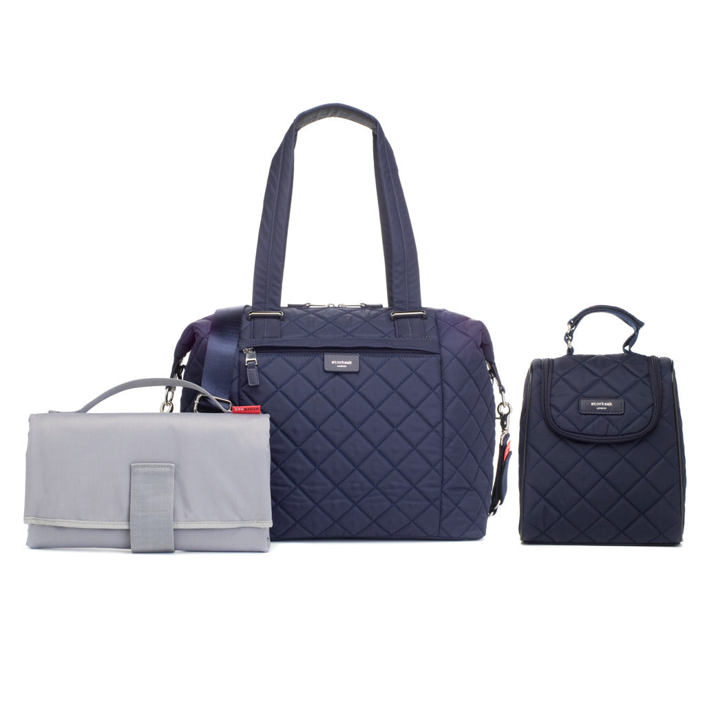 Storksak Stevie Navy Nappy Bag Accessories