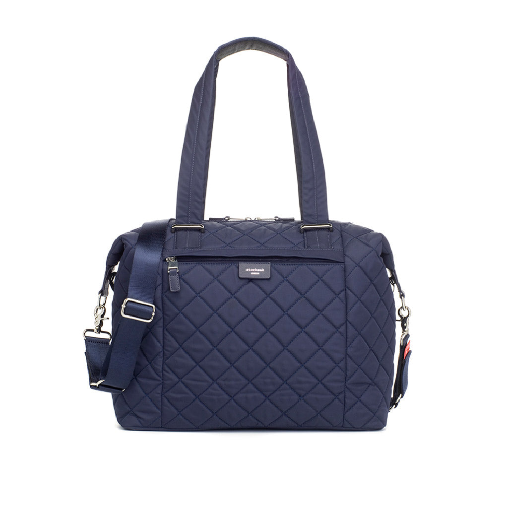 Storksak Stevie Quilt Navy Nappy Bag
