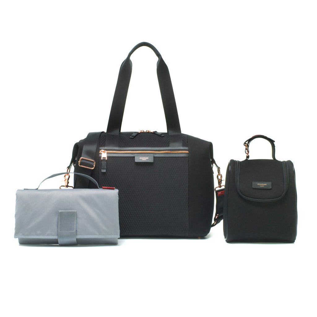 Storksak <br>Stevie Luxe Scuba Black