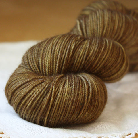 Alluree / Sock Weight / Acorn Superwash Merino Cashmere Nylon Hand Dyed Yarn / Ready to Ship