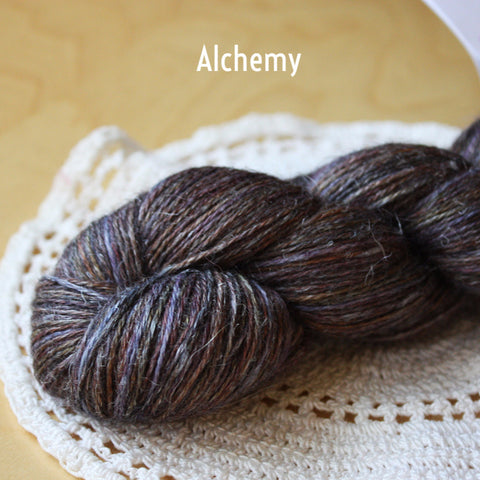 Angelique / Fingering Weight / Baby Alpaca Cashmere Silk Hand Dyed Yarn