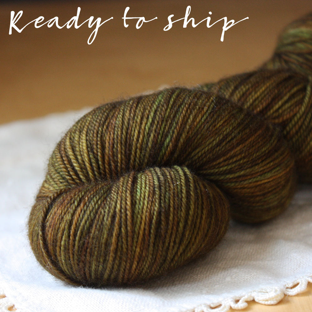 Alluree / Fingering Weight / Ancien Superwash Merino Cashmere Nylon Hand Dyed Yarn / Ready to Ship