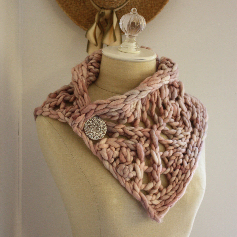 Fleche Chunky Lace Neckwarmer Knitting Pattern