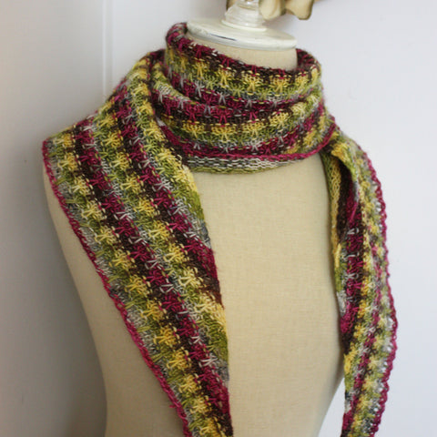 Aurora Crescent Shawlette Knitting Pattern for Mini Skeins