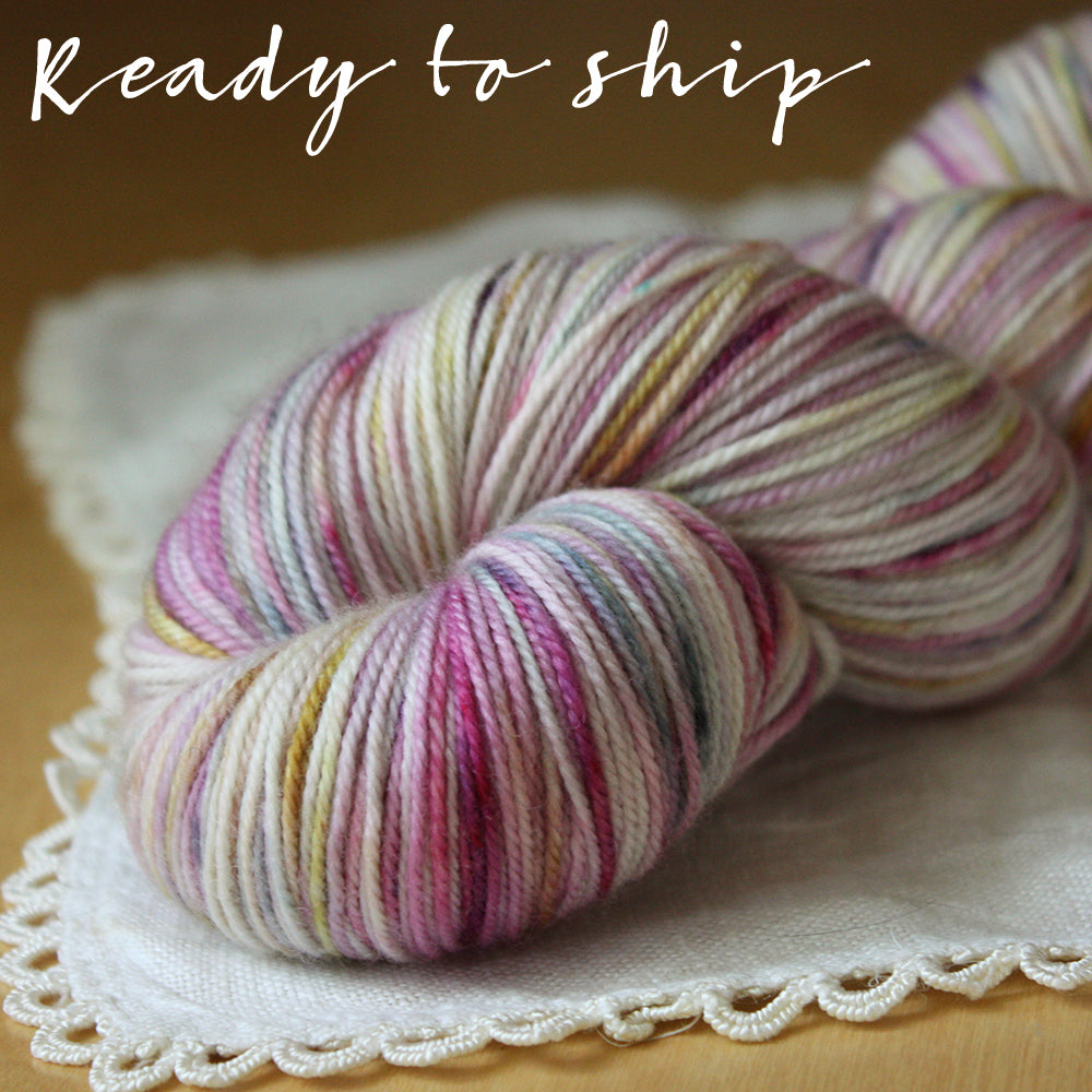 Alluree / Sock Weight / Thistledown Superwash Merino Cashmere Nylon Hand Dyed Yarn / Ready to Ship