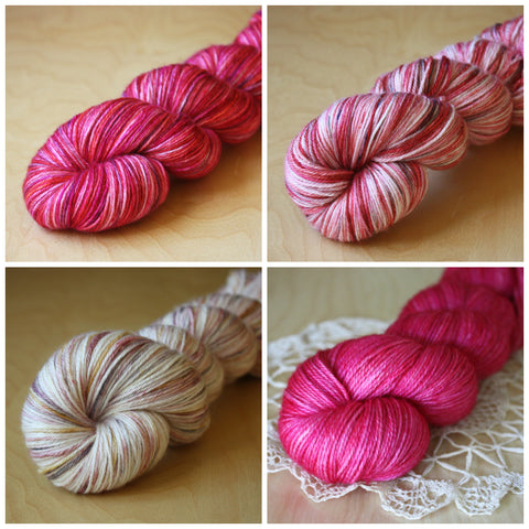 Mini Skeins / 400 Yards / Hand Dyed Be Mine Mini Skeins MCN Fingering Weight