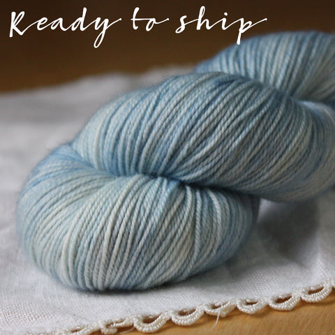 Alluree / Fingering Weight / Beach Glass OOAK Superwash Merino Cashmere Nylon Hand Dyed Yarn / Ready to Ship
