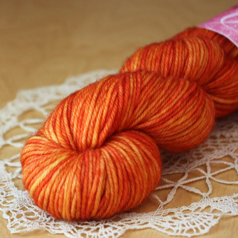 Beurre / DK Weight / SALE Saffron Superwash Merino Wool Hand Dyed Yarn