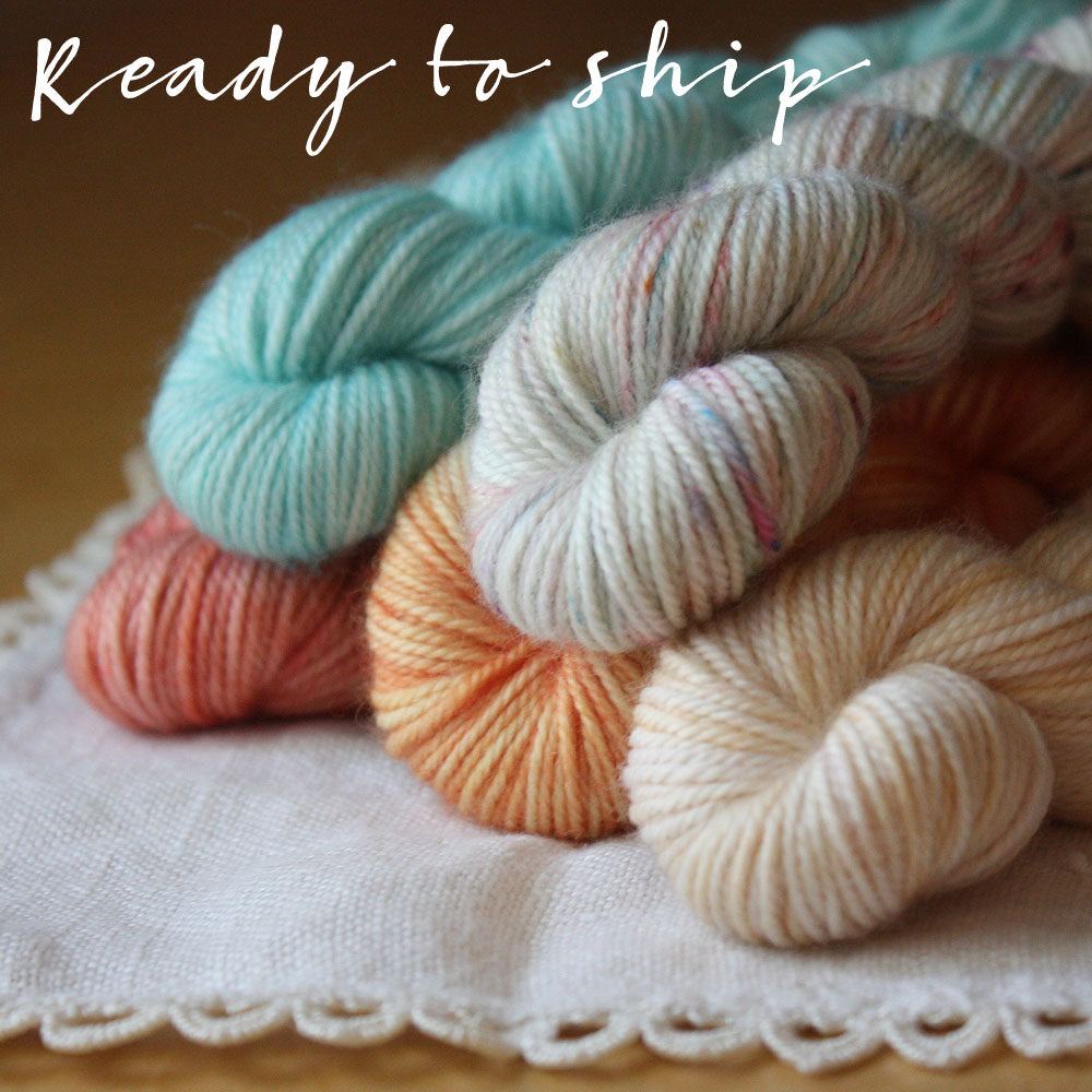 Mini Skeins / 400 Yards / Boca Summer Color Mini Skeins Alluree Fingering Weight Hand Dyed Yarn