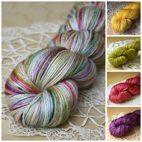 Mini Skeins / 400 Yards / Hand Dyed Bohemia Mini Skeins MCN Fingering Weight