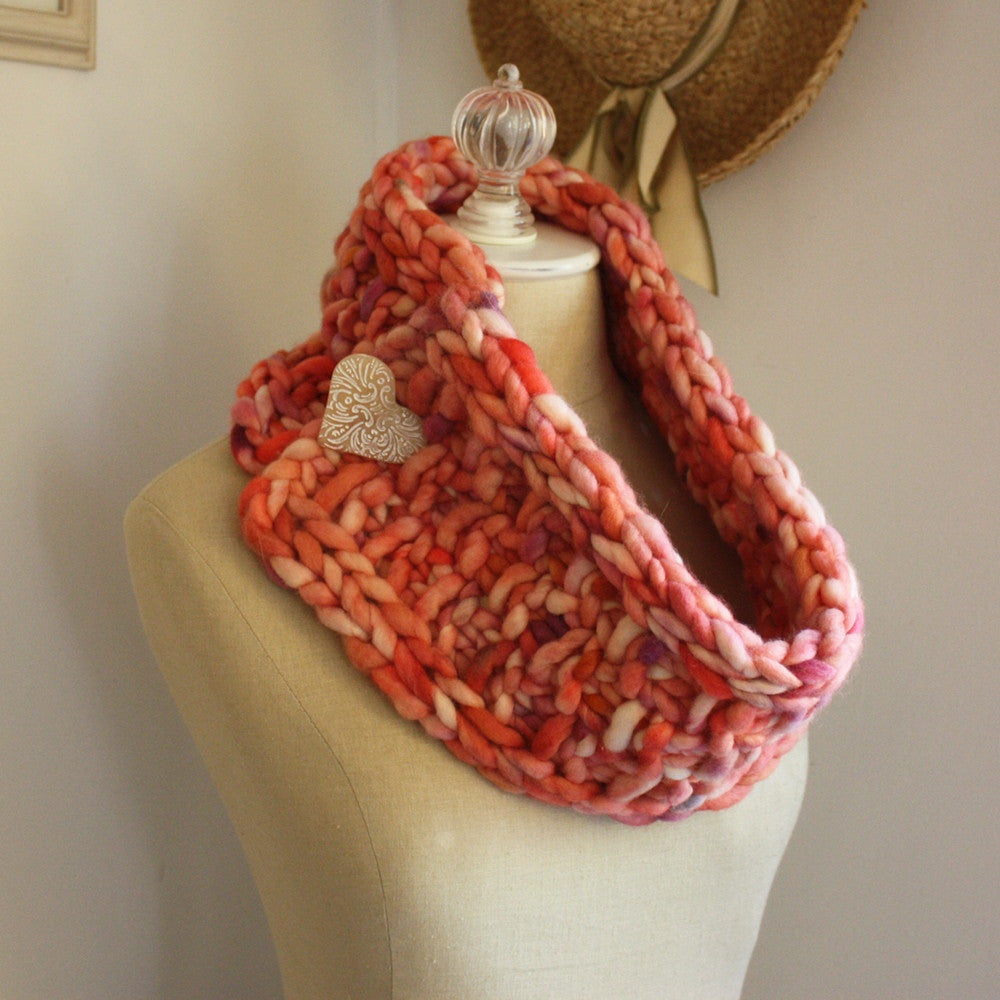 Brique Chunky Cowl Neckwarmer Knitting Pattern