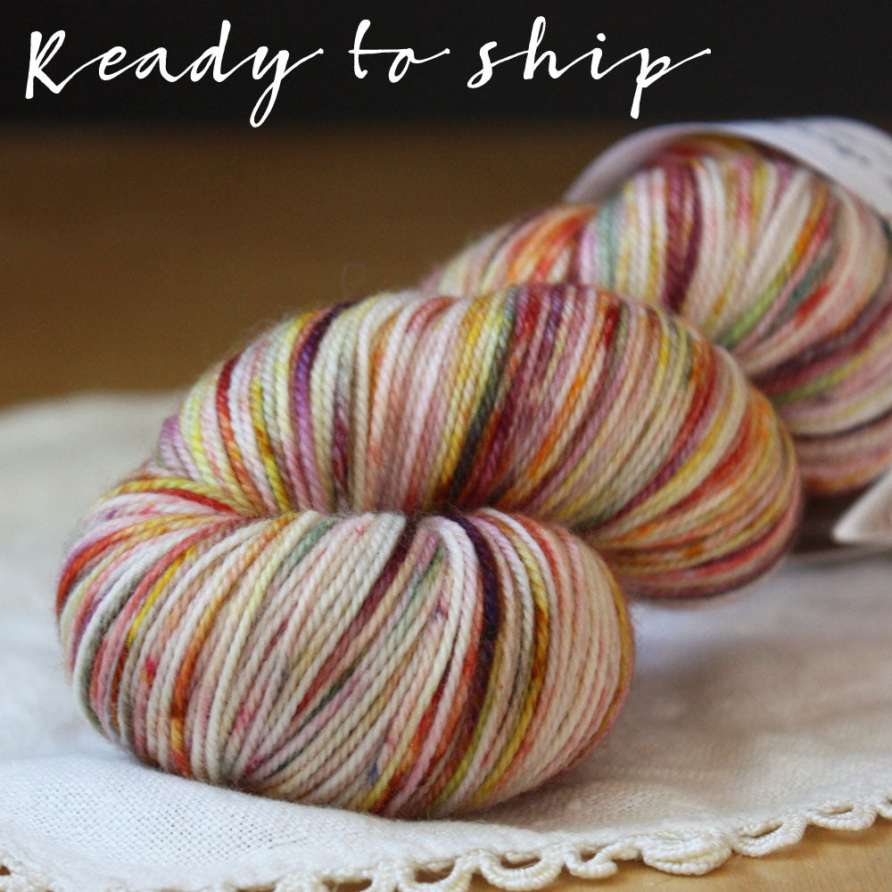Alluree / Fingering Weight / Cersei Merino Wool Cashmere Nylon Hand Dyed Yarn / READY TO SHIP