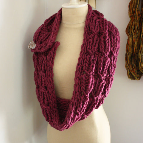 Chaine Cowl / Wrap Knitting Pattern