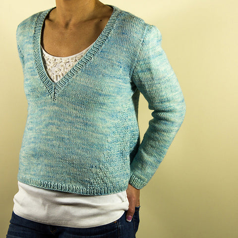 Chaset Sweater KIT / Hand Dyed DK Weight Yarn and Knitting Pattern