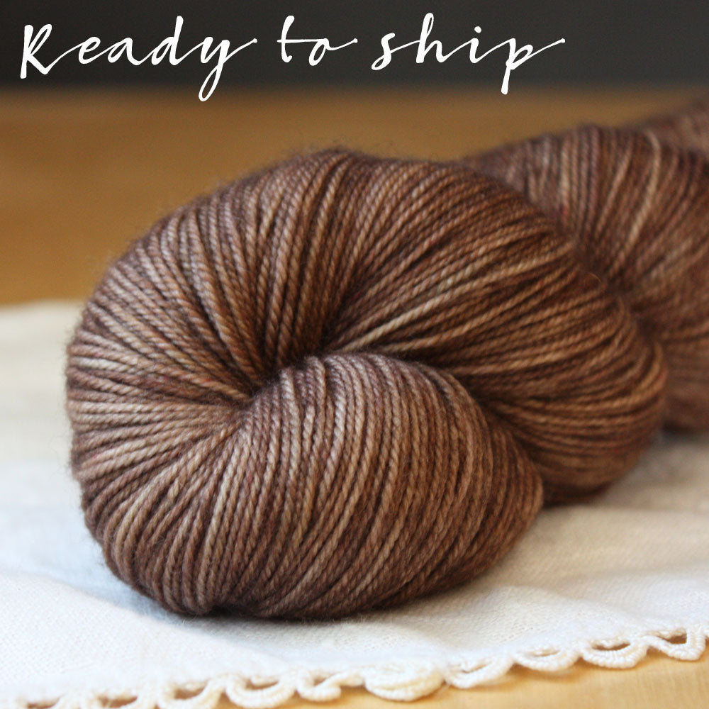 Alluree / Fingering Weight / Cocoa Superwash Merino Cashmere Nylon Hand Dyed Yarn / Ready to Ship
