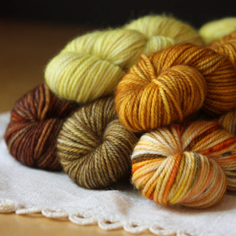 Mini Skeins / 400 Yards / One of a Kind Mini Skeins Alluree Fingering Weight Hand Dyed Yarn