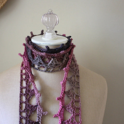 Couronne Lace Scarf Crochet Pattern