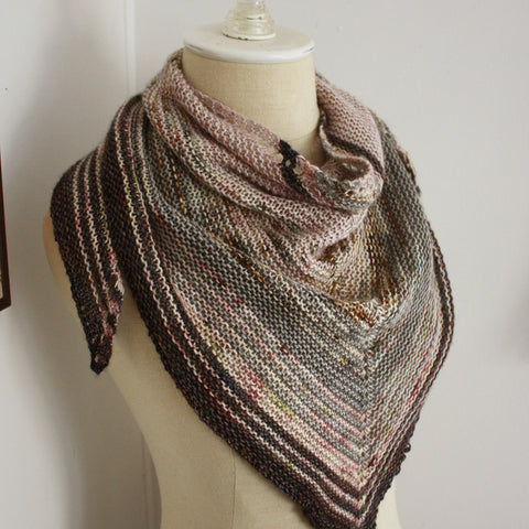 Diana Shawl Knitting Pattern for Mini Skeins