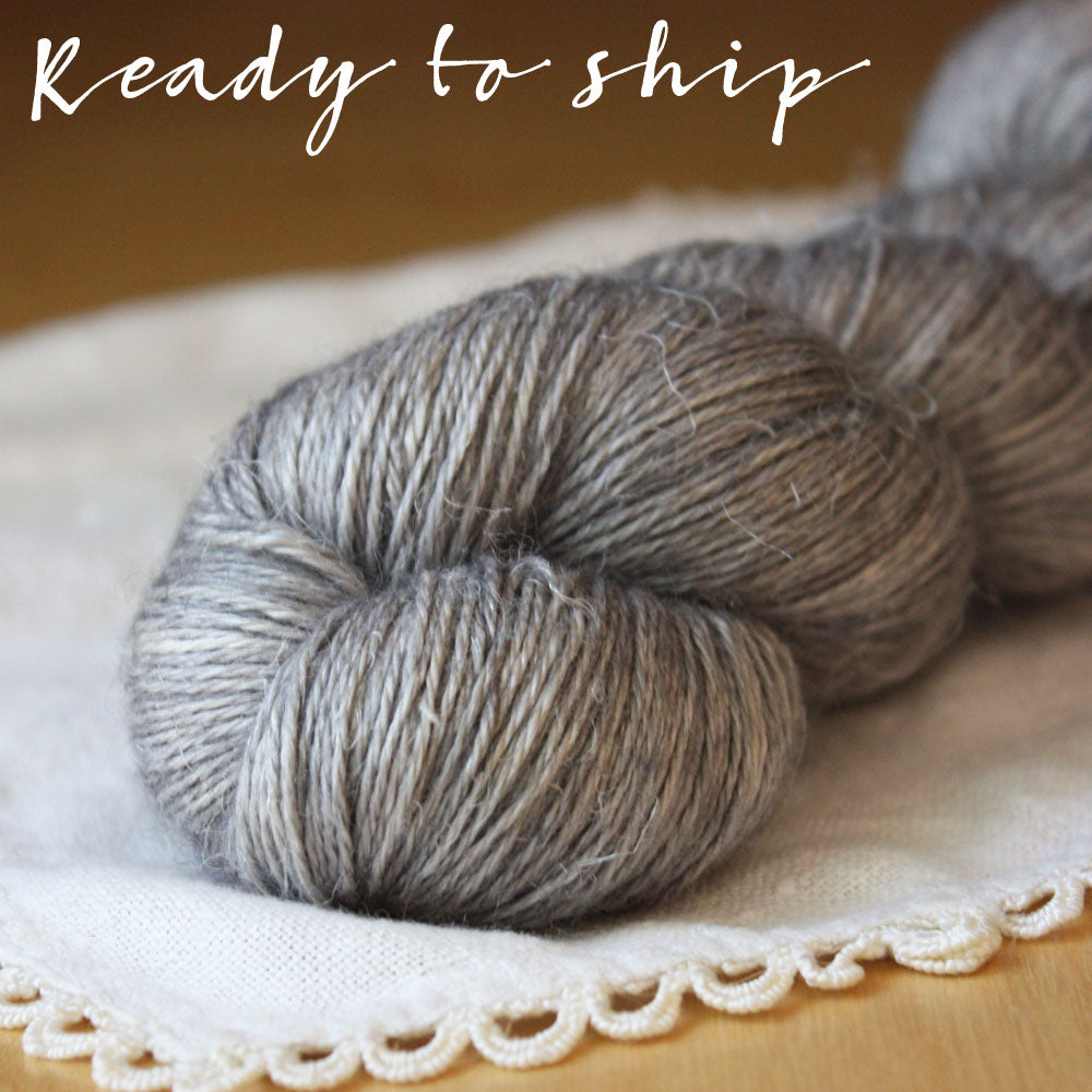 Aegypte / Fingering Weight / Dire Wolf Baby Alpaca Silk Hand Dyed Yarn / Ready to Ship