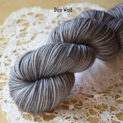 Down / DK Weight / Superwash Merino Wool Cashmere Nylon Hand Dyed Yarn
