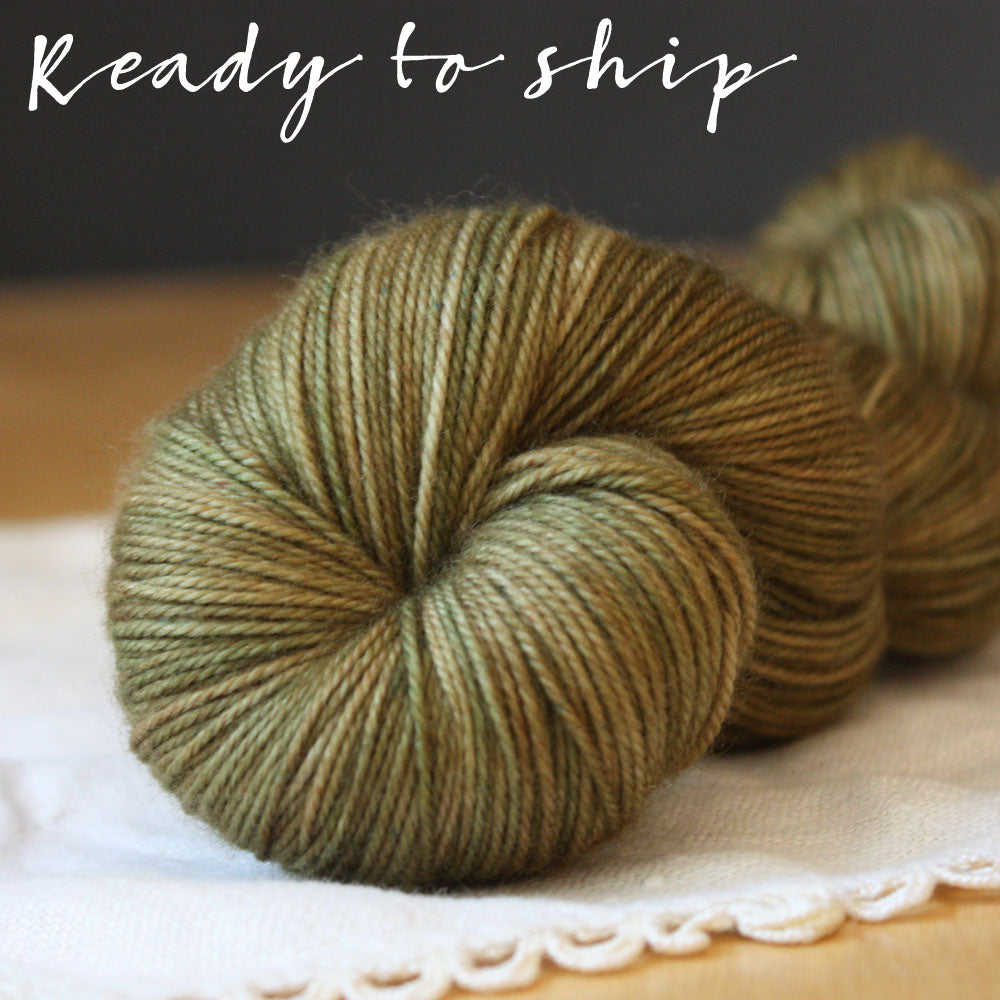 Alluree / Fingering Weight / Fatigues Superwash Merino Cashmere Nylon Hand Dyed Yarn / Ready to Ship