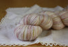 Angelique / Fingering Weight / Ghost Baby Alpaca Cashmere Silk Hand Dyed Yarn / Ready to Ship