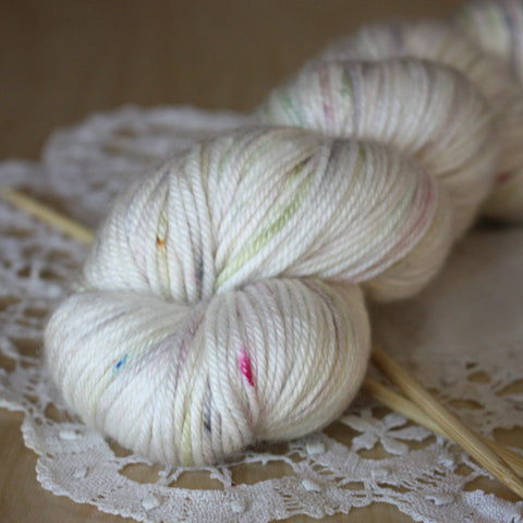 Ghost / Hand Dyed Yarn / Ready to Ship / Down DK Weight