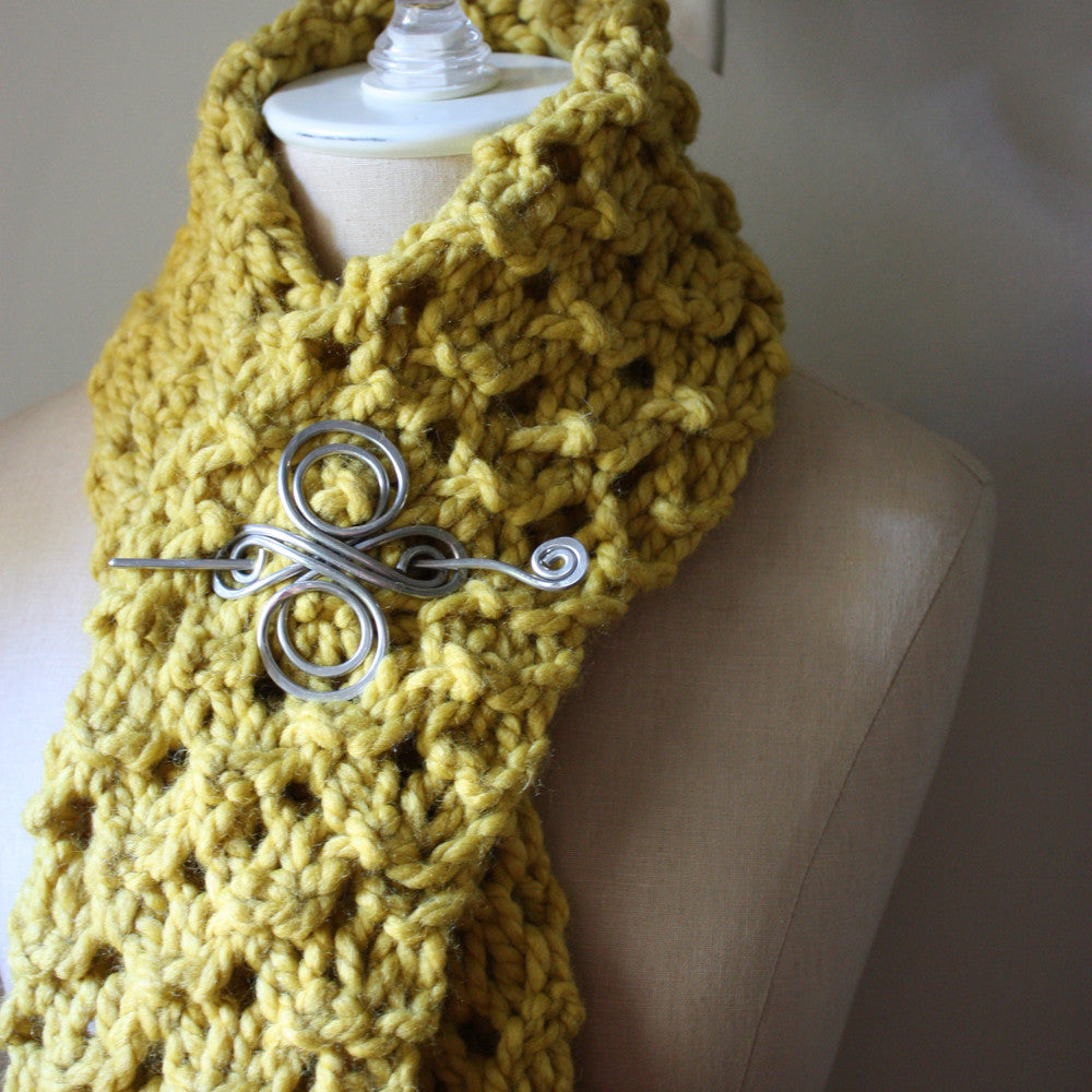 Hunny Chunky Cowl Scarf Knitting Pattern – Phydeaux Designs & Fiber