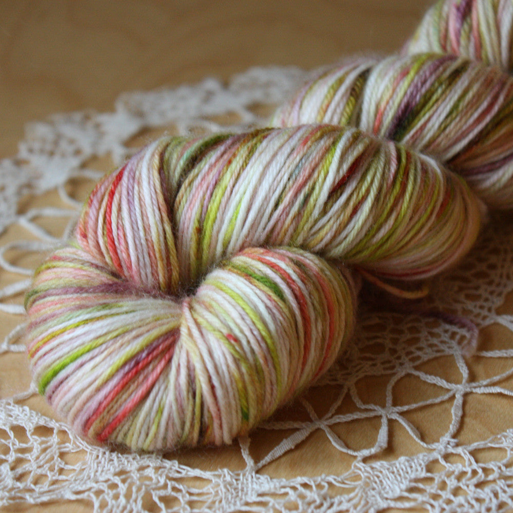 Beurre / Worsted Weight / Jardin / Superwash Merino Wool Hand Dyed Yarn