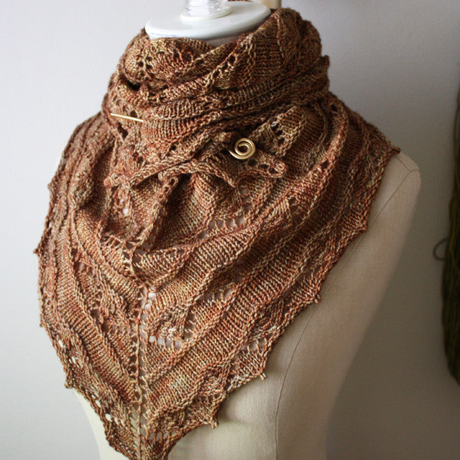Joyeux Lace Shawlette Knitting Pattern