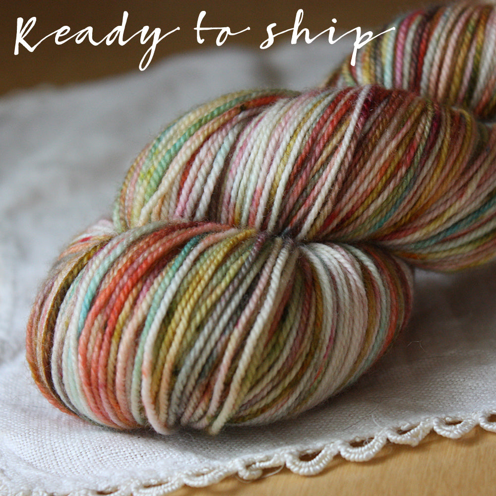 Alluree / Sock Weight / Joyful OOAK Superwash Merino Cashmere Nylon Hand Dyed Yarn / Ready to Ship