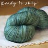 Soie / Fingering Weight / Lake Merino Wool Silk Hand Dyed Yarn / READY TO SHIP