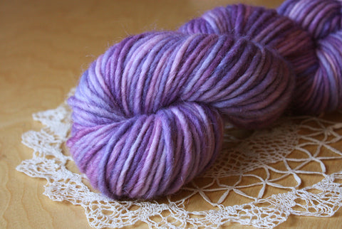 Lavande / Mousse Bulky Weight Hand Dyed Yarn / Ready to Ship