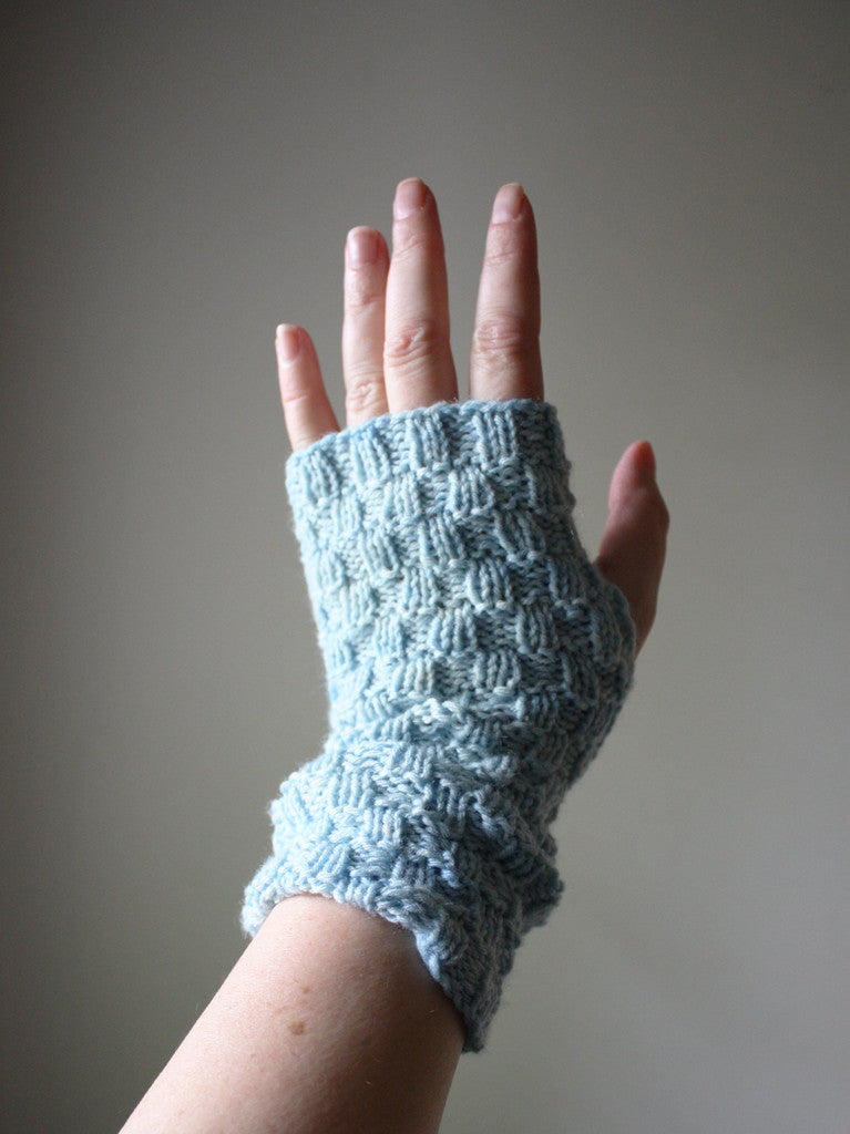 Cheques Fingerless Mittens (Mitts) Knitting Pattern – Phydeaux ...