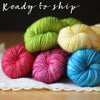 Mini Skeins / 400 Yards / Spring Rainbow Mini Skeins Alluree Fingering Weight Hand Dyed Yarn