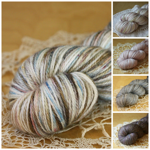 Mini Skeins / 400 Yards / Hand Dyed Masonry Mini Skeins MCN Fingering Weight