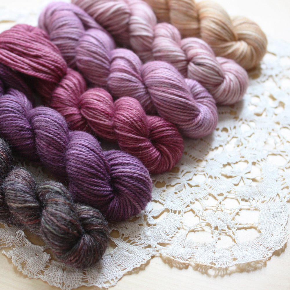 Mini Skeins / 400 Yards / Hand Dyed Gateau Gradient MCN Mini Skeins Fingering Weight