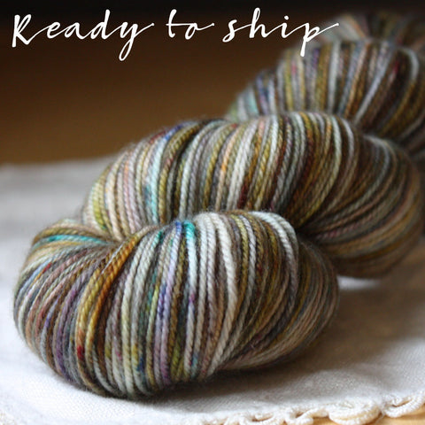 Alluree / Sock Weight / Mercury Glass Superwash Merino Cashmere Nylon Hand Dyed Yarn / Ready to Ship