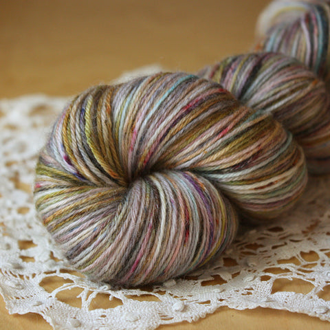 Bambou / Fingering Weight / Mercury Glass Superwash Merino Wool Bamboo