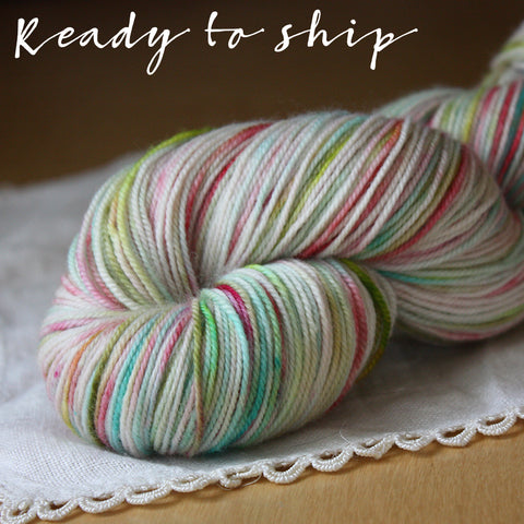 Alluree / Sock Weight / Miami Superwash Merino Cashmere Nylon Hand Dyed Yarn / Ready to Ship