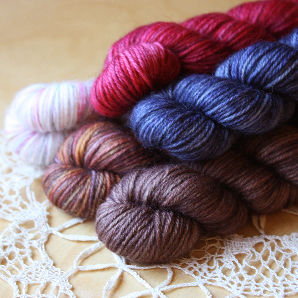 Mini Skeins / 400 Yards / Hand Dyed MCN Fingering Weight / Ready to Ship