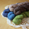 Mini Skeins / 400 Yards / Hand Dyed Bamboo BFL Fingering Weight / Ready to Ship