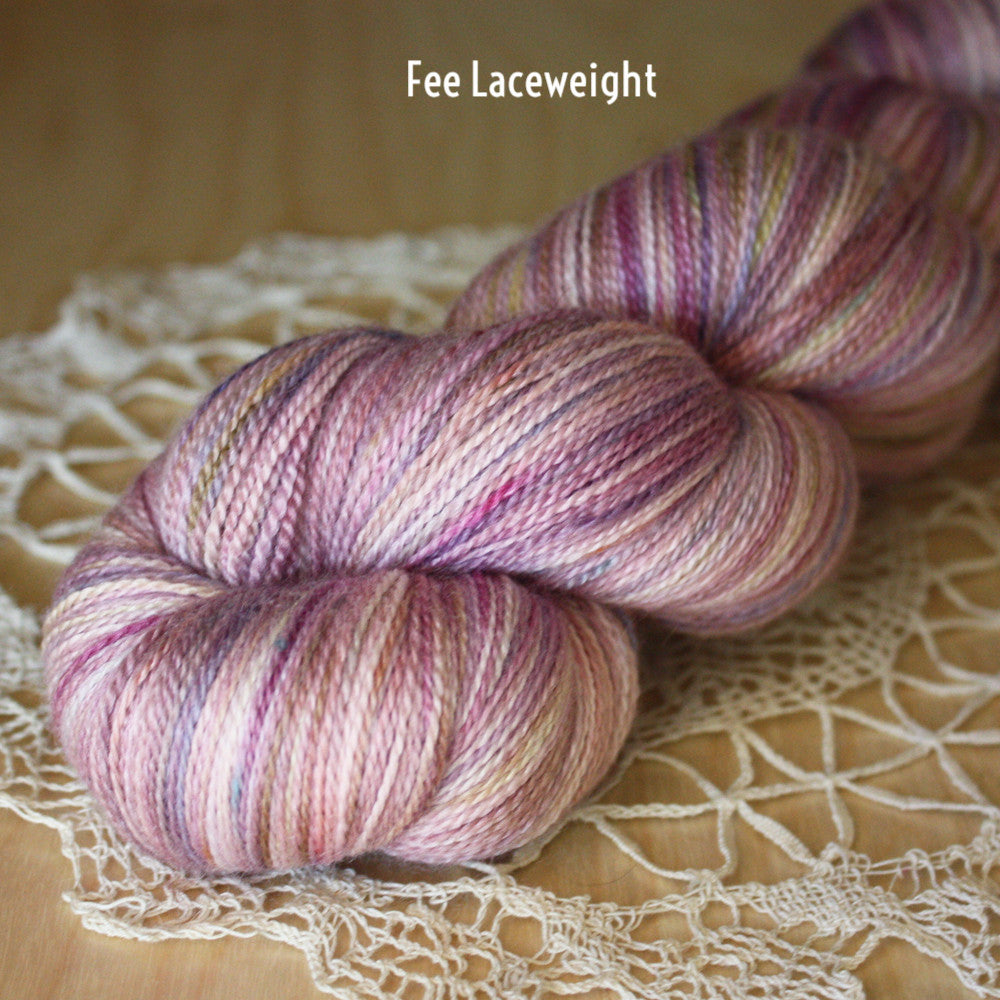 Fée / Lace Weight / Superfine Merino Silk Hand Dyed Yarn