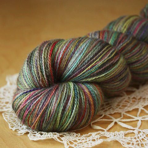 Fée / Lace Weight / Nebula IV (OOAK) Superfine Merino Wool Silk Hand Dyed Yarn / Ready to Ship
