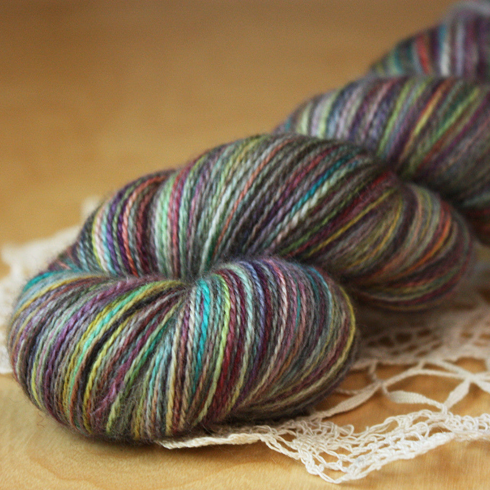 Fée / Lace Weight / Nebula I (OOAK) Superfine Merino Wool Silk Hand Dyed Yarn / Ready to Ship