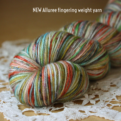 Le Club:  Phydeaux Allure Fingering Weight MCN Yarn Club Three or Six Months